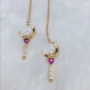 sailor moon Jewelry - 🌙Sailor moon wand necklace dainty anime pendant
